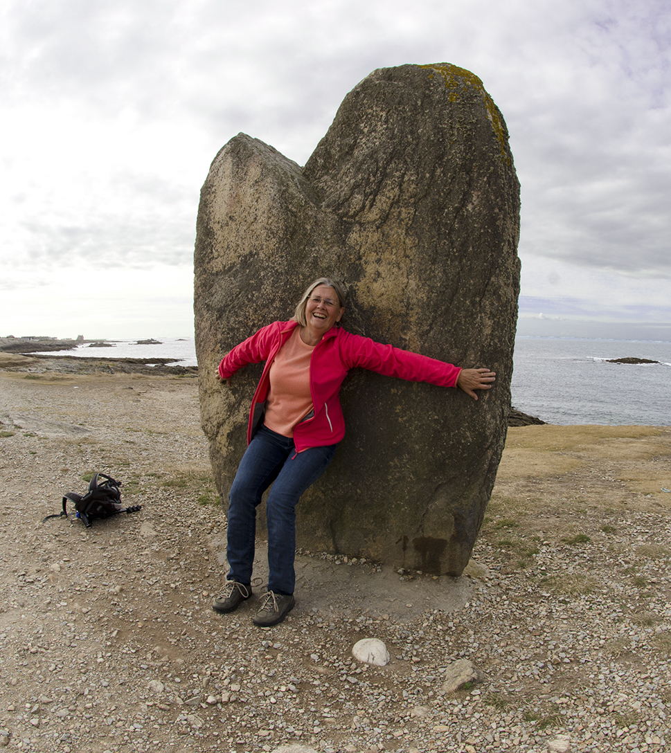 Menhir aan Côte Sauvage, Quiberon, Bretagne