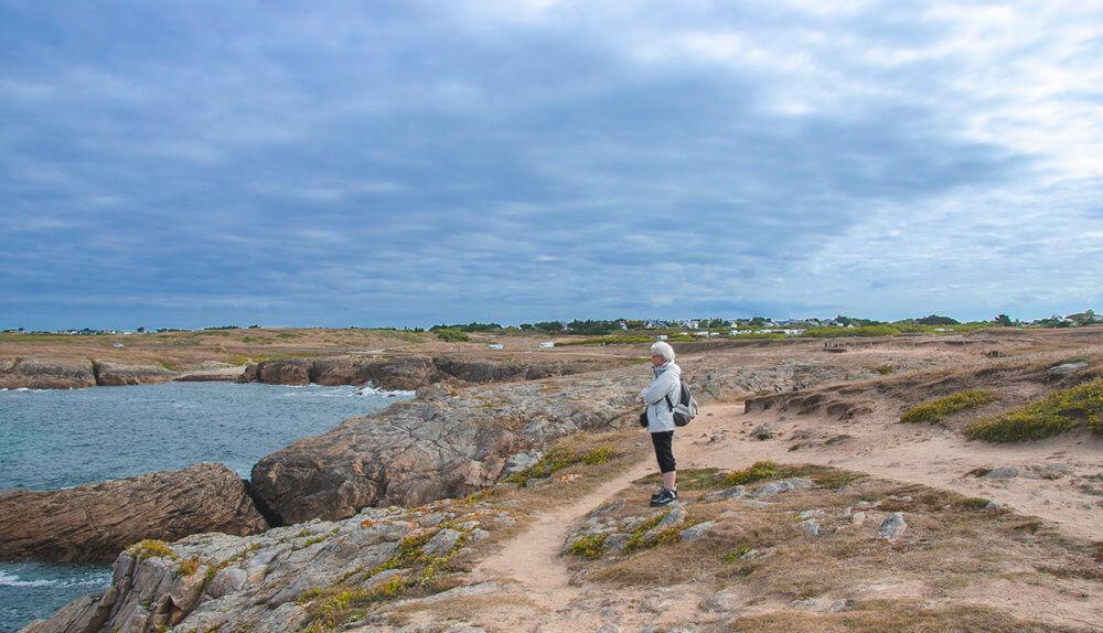 Quiberon, Bretagne, wandelen langs de Côte Sauvage