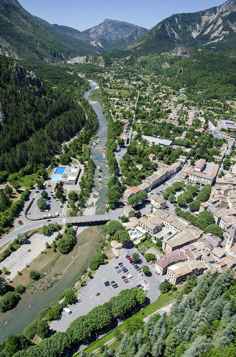Uitzicht op Castellane vanaf de Roc