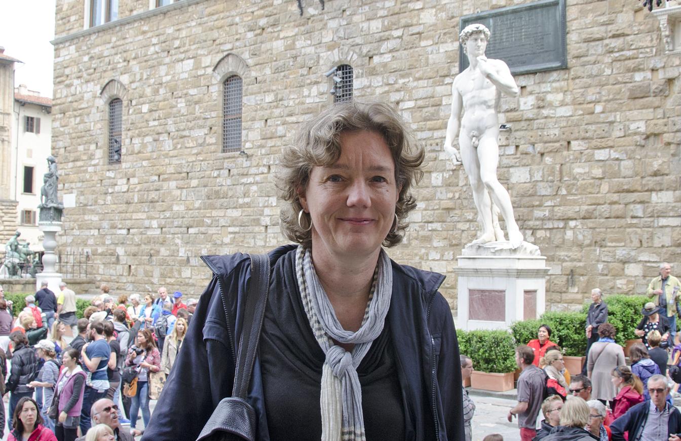 KArin Werker, stadsgids te Florence