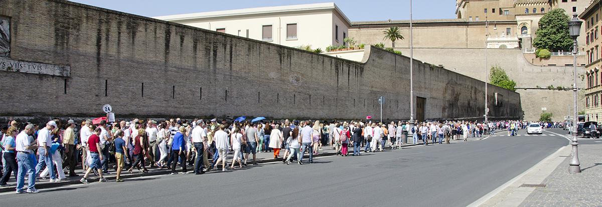 Rome wachtrij voor het Vaticaan