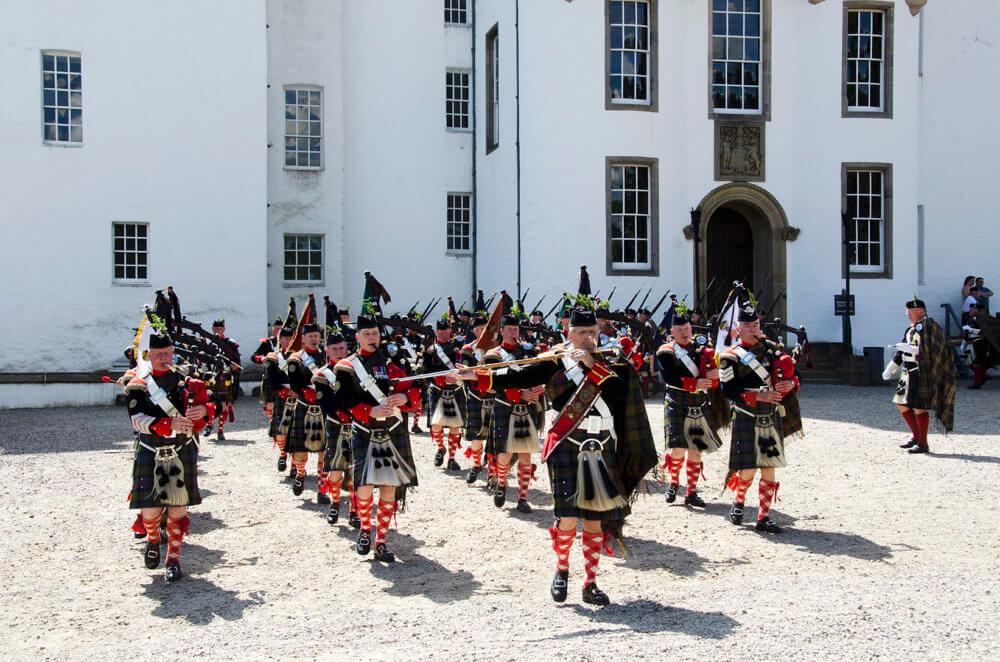 Athol Highlanders voor Blair Castle