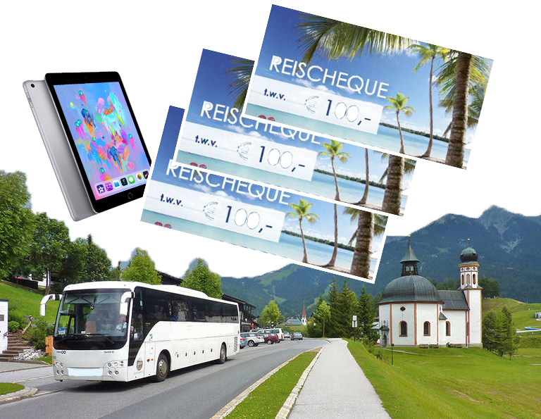 Een busreis winnen