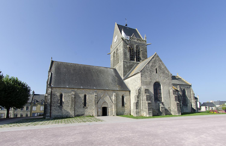 Kerktoren van Sainte-Mer-Eglise